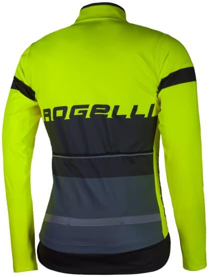 Voděodolný cyklodres s chráničem zad Rogelli HYDRO s dlouhým rukávem, reflexní žlutý