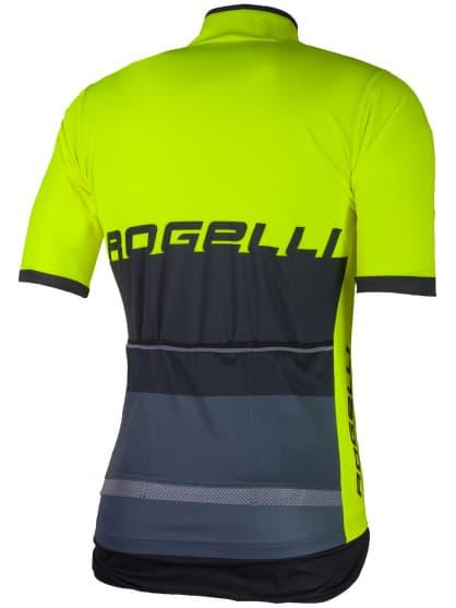 Voděodolný cyklodres s chráničem zad Rogelli HYDRO s krátkým rukávem, reflexní žlutý