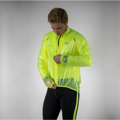 Ultralehká a prodyšná cyklovětrovka Rogelli CROTONE odolná silnému dešti, reflexní žlutá