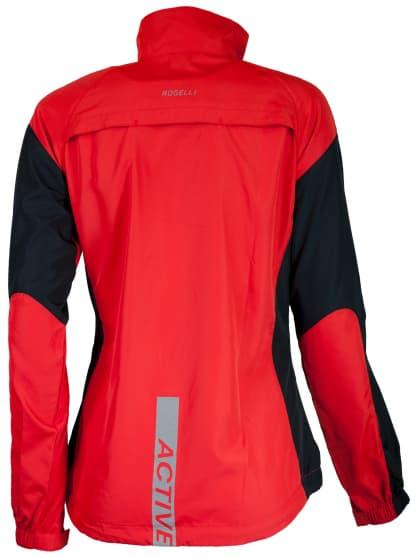 Dámská běžecká větrovka Rogelli ELVI, červeno-černá