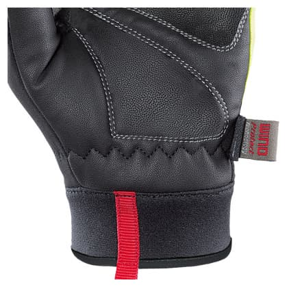 Softshellové rukavice Chiba TOUR PLUS, černo-reflexní žluté