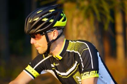 Cyklodres Rogelli GARA MOSTRO s krátkým rukávem, reflexní žlutý
