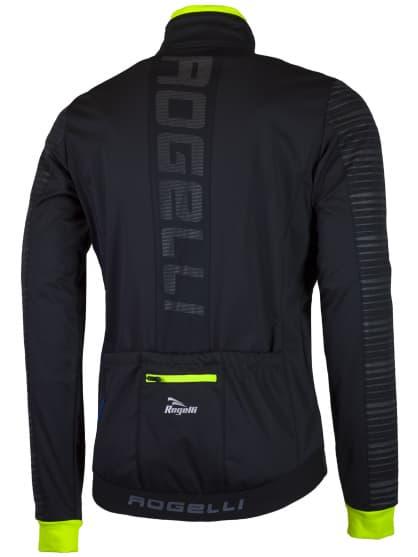 Softshellová bunda s výrazným reflexním potiskem Rogelli RENON 2.0, černo-reflexní žlutá