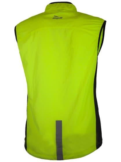 Běžecká vesta s prodyšnými bočními panely Rogelli STRIKE, reflexní žlutá