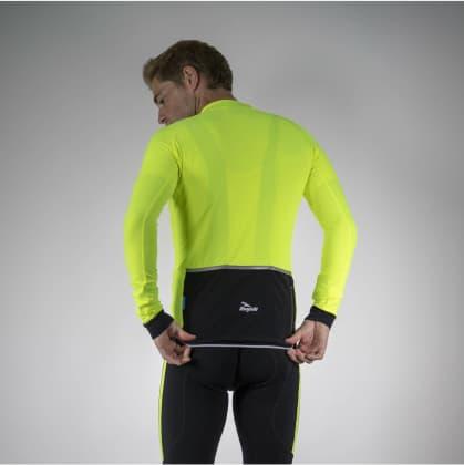 Jemně zateplený cyklodres Rogelli TREVISO 2.0 s dlouhým rukávem, černo-reflexní žlutý