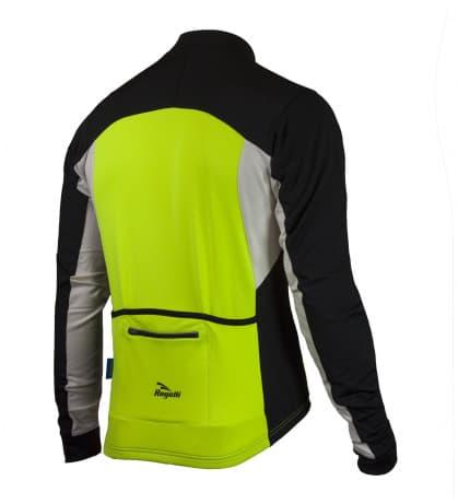 Hřejivý cyklistický dres Rogelli RECCO 2.0 s dlouhým rukávem, reflexní žlutý