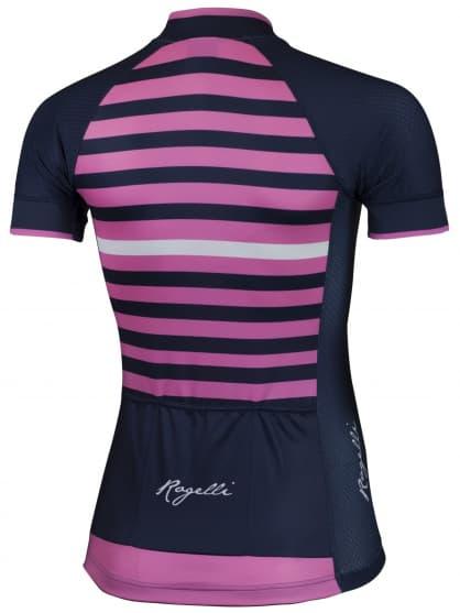 Letní dámský cyklistický dres Rogelli ISPIRA s krátkým rukávem, modro-růžový