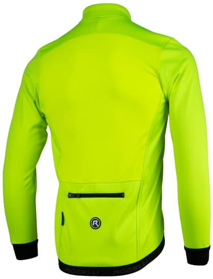 Lehká softshellová bunda s prodyšným zádovým panelem Rogelli PESARO 2.0, reflexní žlutá