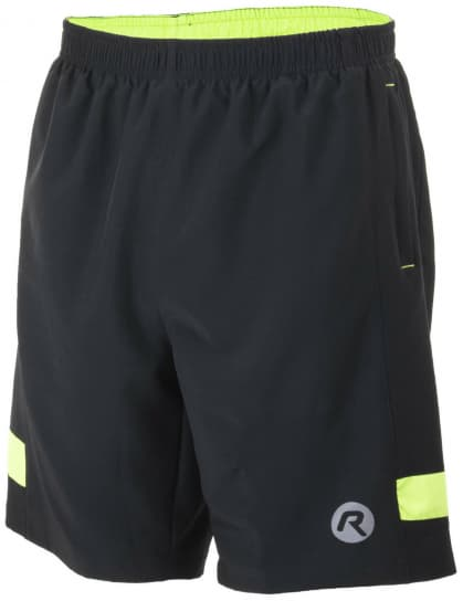 ece069e07e28e Volné běžecké šortky Rogelli GRAVITY, černo-reflexní žlutá ...