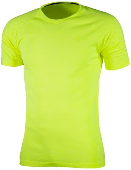 Funkční bezešvé triko Rogelli SEAMLESS, reflexní žluté
