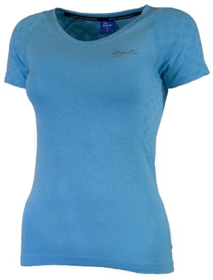 Dámské funkční bezešvé triko Rogelli SEAMLESS, modrý melír