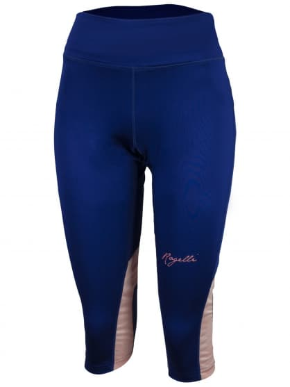 Dámské běžecké 3/4 kraťasy Rogelli DESIRE, modrá-růžový melír