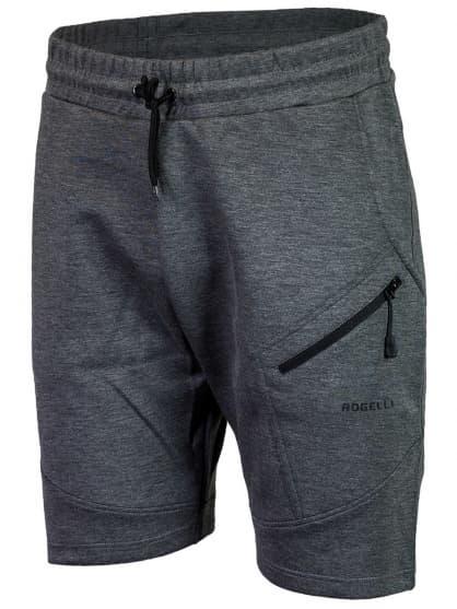Funkční šortky Rogelli TRAINING s volnějším střihem, šedé