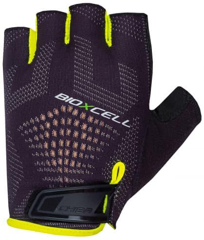Cyklo rukavice Chiba BIOXCELL SUPER FLY, černo-reflexní žluté