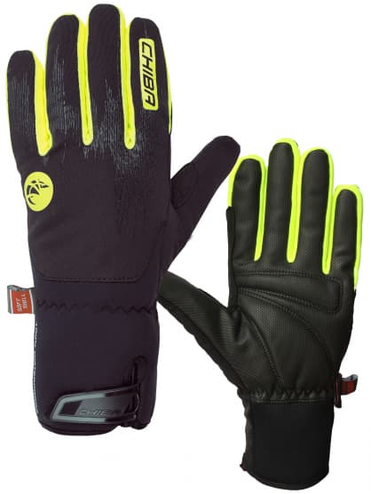 Velmi silně hřejivé zimní rukavice DRY STAR SUPERLIGHT s odlehčením a nepromokavou membránou, černá-reflexní žlutá