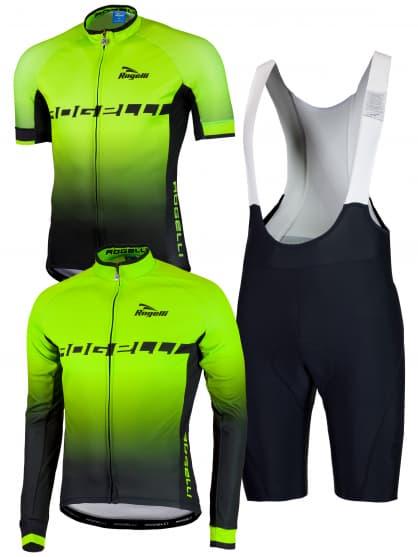 Cyklo oblečení Rogelli ISPIRATO, reflexní zelené