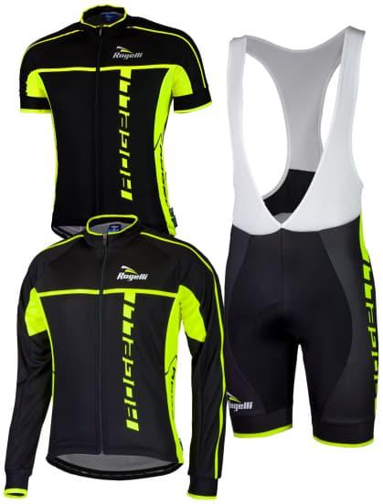 Cyklistické oblečení Rogelli UMBRIA 2.0, černé-reflexní žluté