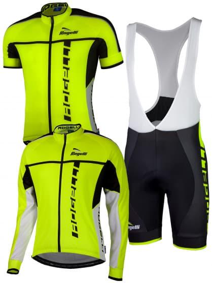Cyklistické oblečení Rogelli UMBRIA 2.0, reflexní žluté