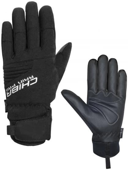 Silně hřejivé zimní rukavice Chiba RAIN TOUCH s nepromokavou membránou, černé