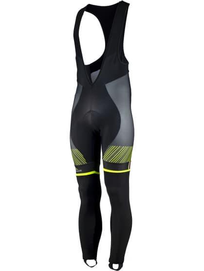 Exclusivní cyklistické kalhoty Rogelli RITMO s gelovou cyklovýstelkou, černo-reflexní žluté