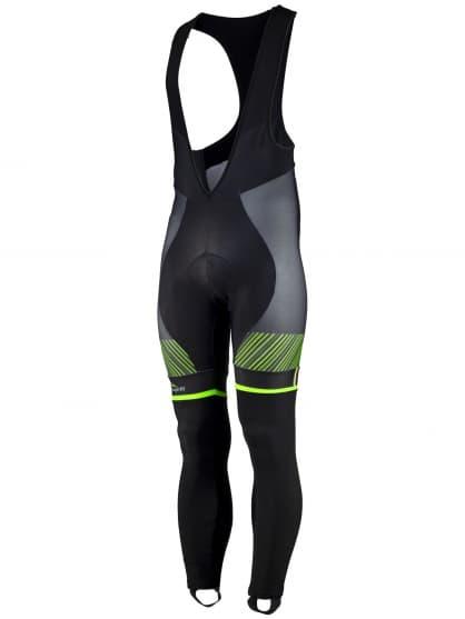 Exclusivní cyklistické kalhoty Rogelli RITMO s gelovou cyklovýstelkou, černo-zelené