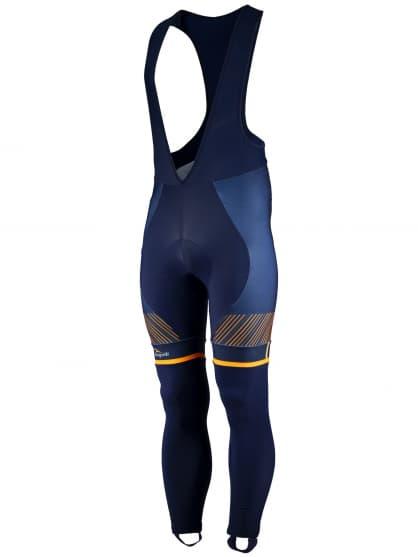 Exclusivní cyklistické kalhoty Rogelli RITMO s gelovou cyklovýstelkou, modro-oranžové