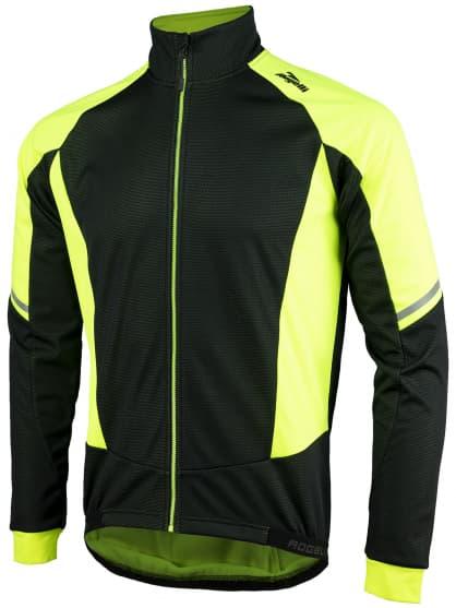 Membránová zimní bunda se silným zateplením Rogelli UBALDO 3.0, reflexní žluto-černá