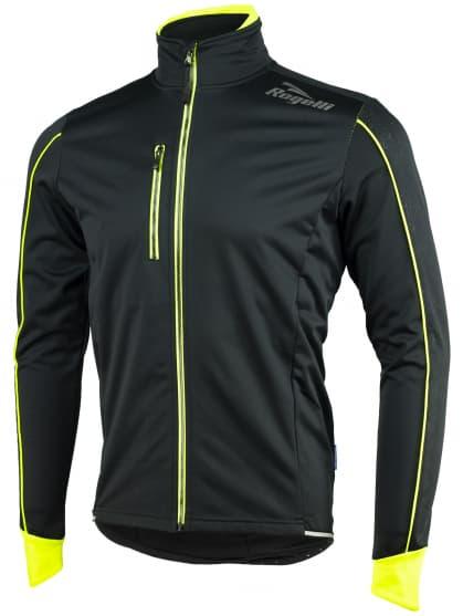 Softshellová bunda s výrazným reflexním potiskem Rogelli RENON 3.0, černo-reflexní žlutá
