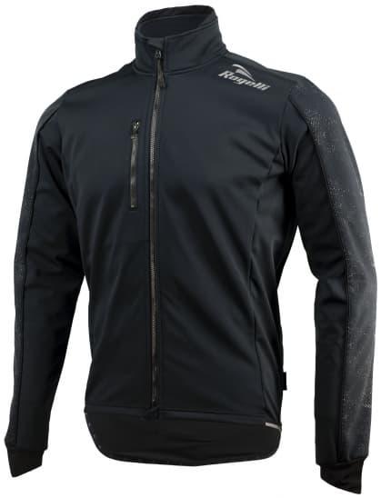 Softshellová bunda s výrazným reflexním potiskem Rogelli RENON 3.0, černá