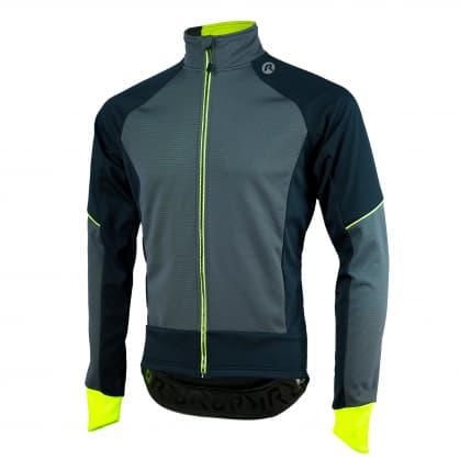 Softshellová bunda se silným zateplením Rogelli TRANI 4.0 s prodyšným zádovým panelem, černo-reflexní žlutá