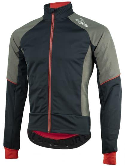 Softshellová bunda se silným zateplením Rogelli TRANI 4.0 s prodyšným zádovým panelem, černo-červená