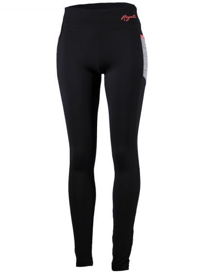 Dámské běžecké kalhoty Rogelli DYNAMIC s lehkým zateplením, černo-šedo-reflexní růžové
