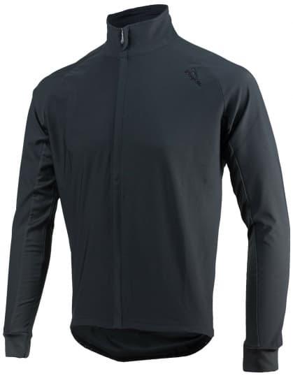 Vodě a větru odolný cyklistický dres s dlouhým rukávem Rogelli ALL SEASONS se softshellem a DWR, černý