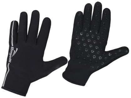 Větru a dešti odolné rukavice Rogelli NEOPRENE izolující proti chladu, černé
