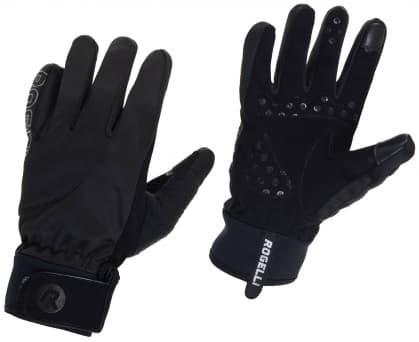 Slabší zimní gelové cyklistické rukavice Rogelli STORM, černé