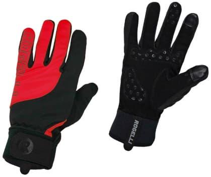 Slabší zimní gelové cyklistické rukavice Rogelli STORM, černo-červené