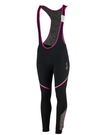 Dámské cyklistické kalhoty Rogelli CAROU s gelovou cyklovýstelkou, černo-šedo-růžové