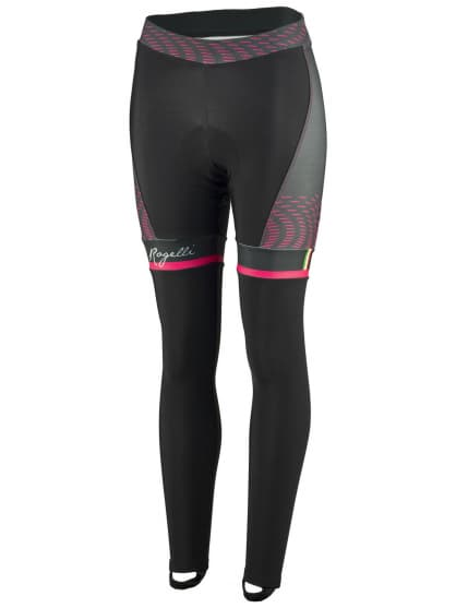 Exclusivní dámské cyklistické kalhoty Rogelli BELLA s gelovou cyklovýstelkou, černo-růžové