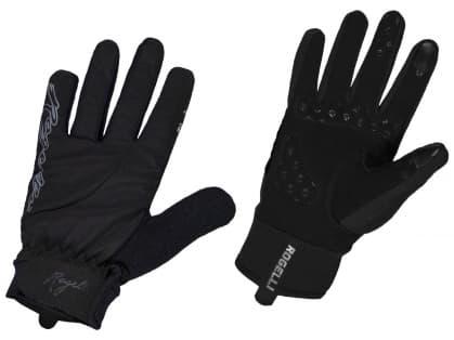 Dámské zimní gelové cyklistické rukavice Rogelli STORM, černé