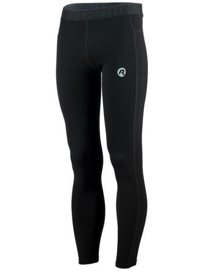 Pánské běžecké kalhoty Rogelli POWER s vynikajícím střihem, černé