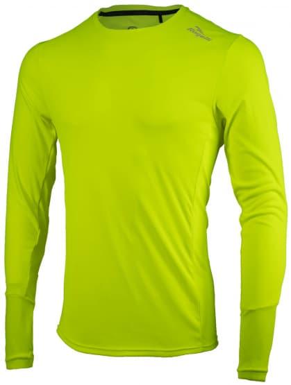 Sportovní funkční triko Rogelli BASIC s dlouhým rukávem, reflexní žlutá