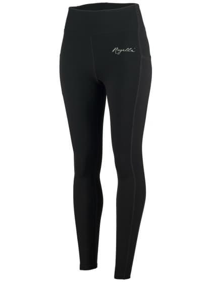 Dámské běžecké kalhoty Rogelli POWER s vynikajícím střihem, černé