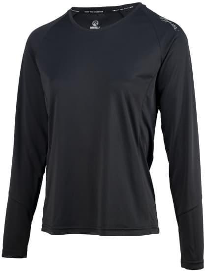Dámské sportovní funkční triko Rogelli BASIC s dlouhým rukávem, černé