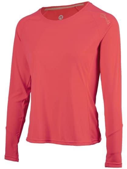 Dámské sportovní funkční triko Rogelli BASIC s dlouhým rukávem, růžové