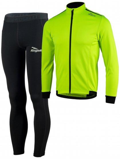Zimní běžecké oblečení Rogelli PESARO 2.0 vhodné na běžky, reflexní žluté