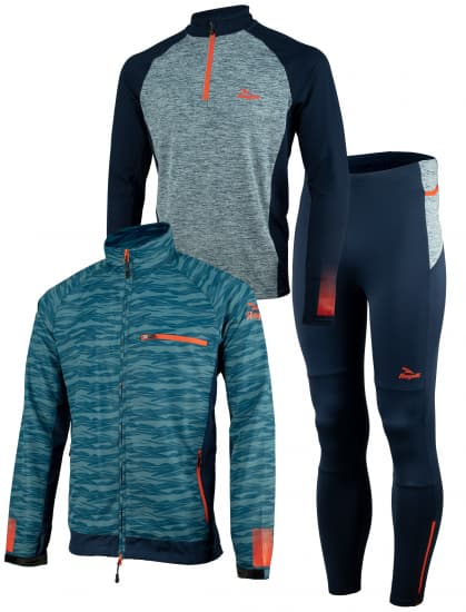 Pánské běžecké oblečení Rogelli BROADWAY, modro-červené