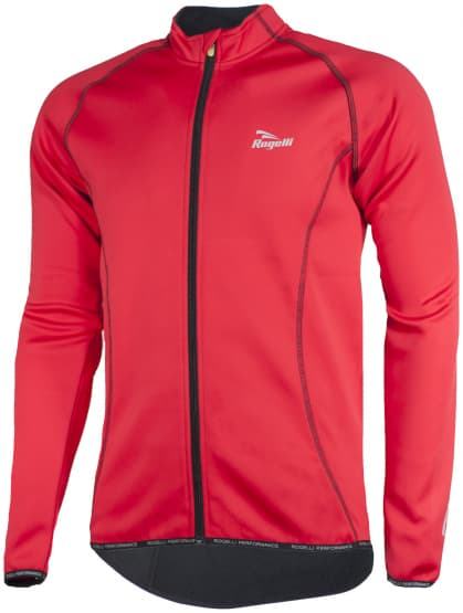 Lehká softshellová bunda s prodyšným zádovým panelem Rogelli PESARO, červeno-černá