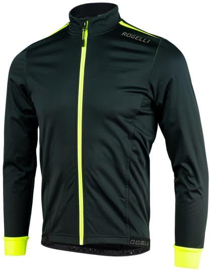 Lehká softshellová bunda s prodyšným zádovým panelem Rogelli PESARO 2.0, černo-reflexní žlutá