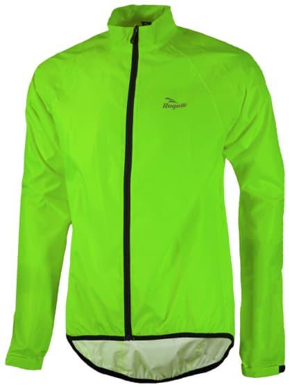 Lehká cyklistická pláštěnka s podlepenými švy Rogelli TELLICO, reflexní zelená