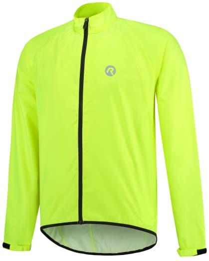 Lehká cyklistická pláštěnka s podlepenými švy Rogelli TELLICO, reflexní žlutá